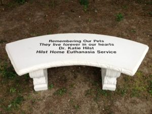 Hilst Pet Memorial Bench donated to Dane County Humane society