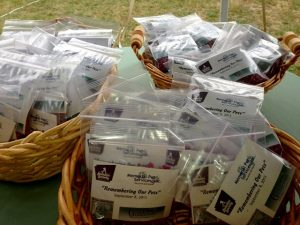 Seed packets - Remembering Our pets 2013