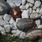 Memory stones for beloved pets who shared our lives