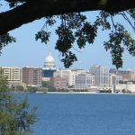 View of the Capitol across Lake Monona
