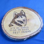Plaque in tribute to canine companion