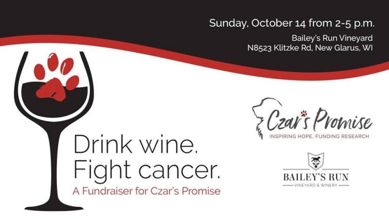 Drink wine, fight canine cancer - 2018 Czar's promise event