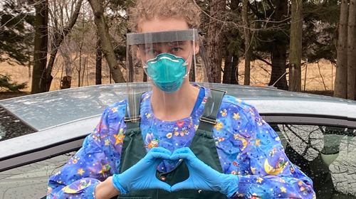 Dr. Laura in COVID PPE - read our statement