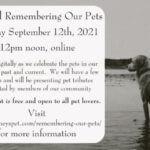 Virtual Remembering our Pets 2021 – Program video