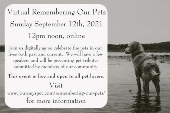 Invitation to Remembering Our Pets event