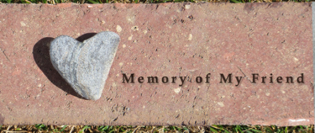 heart shaped stone says memory of my friend - a placeholder when pet picture is not provided